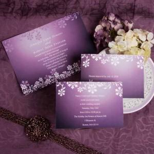 Convite de casamento que segue a decoração do evento
