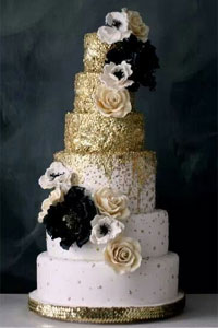 Bolo de casamento Black and Gold Cake