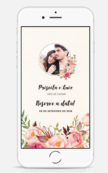 O Save the Date de casamento pode ser eletrônico?